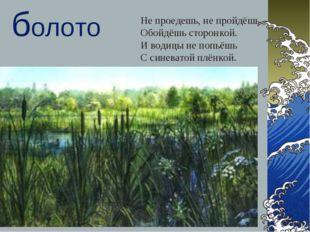 Самгина Любовь Владимировна - учитель начальных классов * болото Не проедешь,