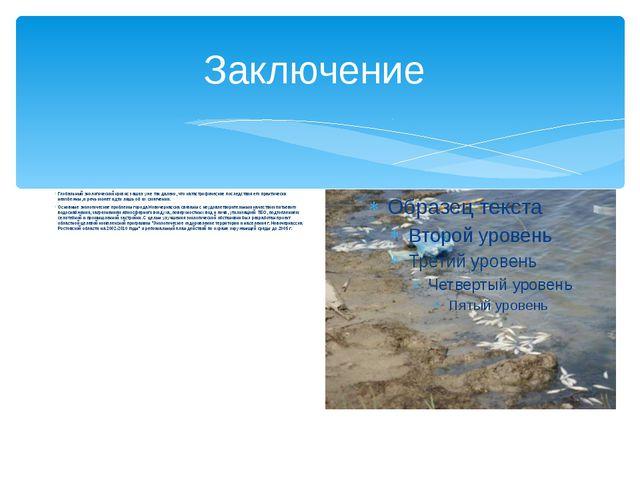 Заключение Глобальный экологический кризис зашел уже так далеко, что катастро...