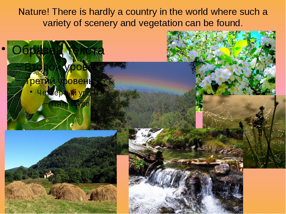 Nature! There is hardly a country in the world where such a variety of scener...