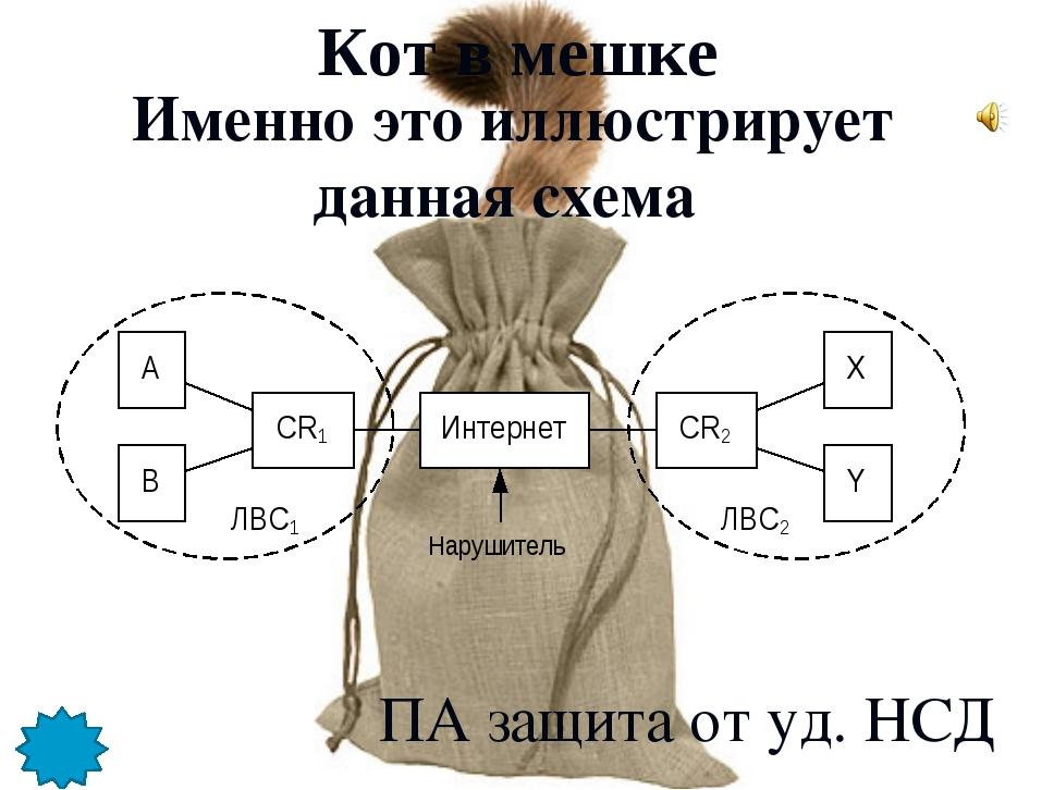Именно это иллюстрирует данная схема Кот в мешке ПА защита от уд. НСД