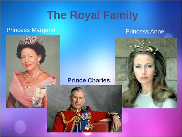 The Royal Family Prince Charles Princess Anne Princess Margaret