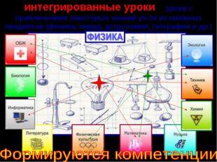 интегрированные уроки - уроки с привлечением некоторых знаний уч-ся из смежны