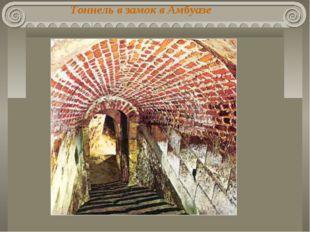Тоннель в замок в Амбуазе