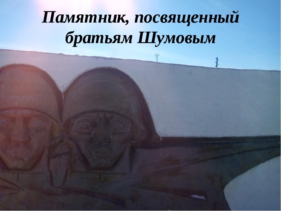 Памятник, посвященный братьям Шумовым