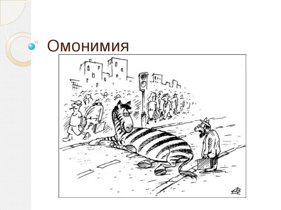 Омонимия