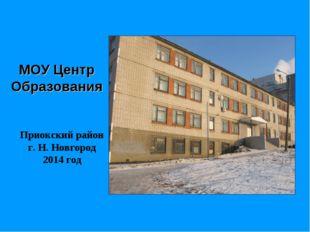 МОУ Центр Образования Приокский район г. Н. Новгород 2014 год