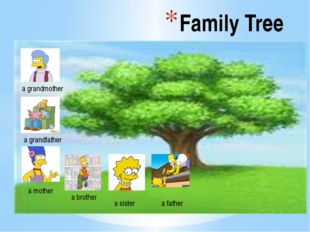 Family Tree a grandmother a grandfather a mother a brother a sister a father