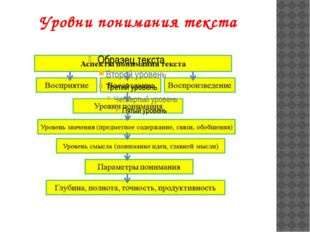 Уровни понимания текста