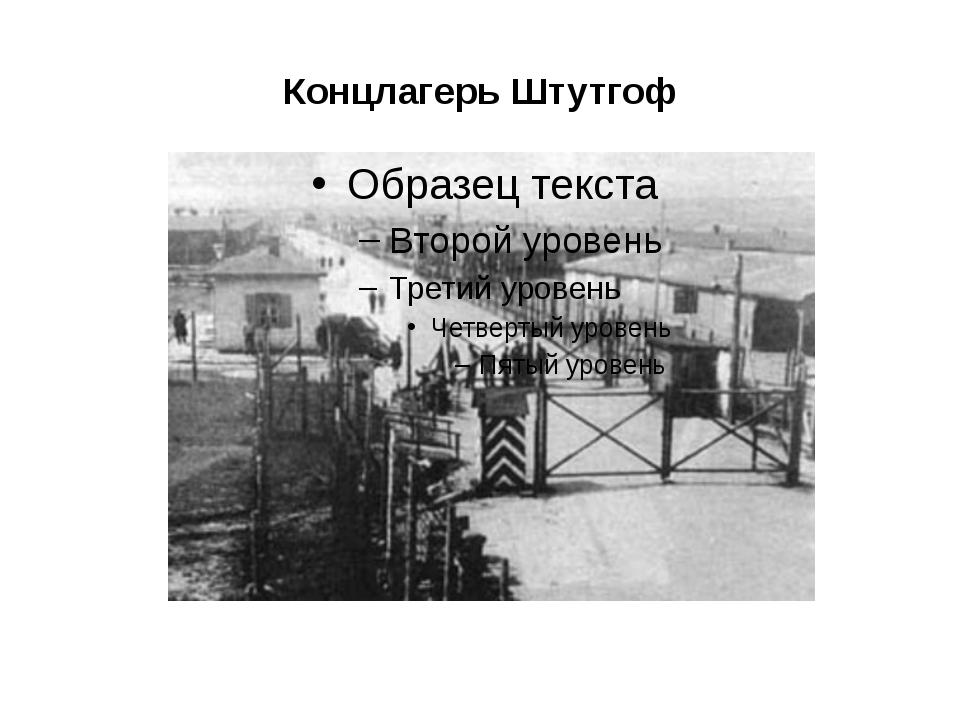 Концлагерь Штутгоф