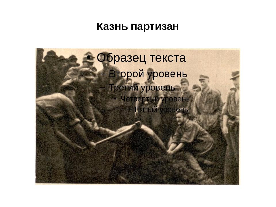 Казнь партизан