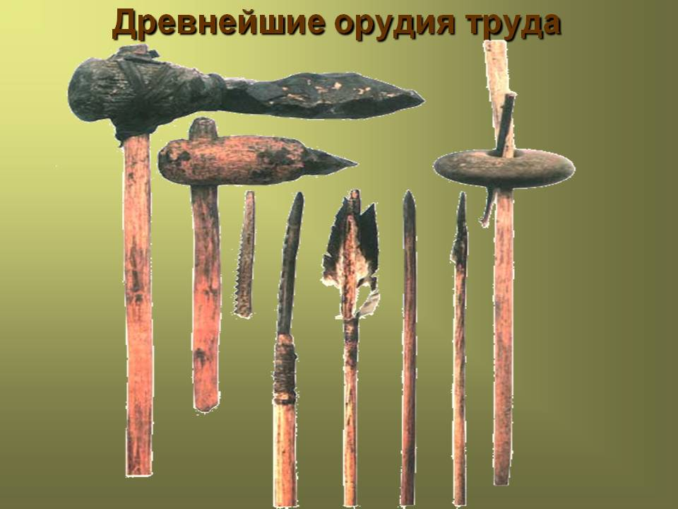 Древнейшие орудия труда - Презентация 14864/10