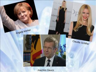 Angela Merkel Claudia Schiffer Joachim Gauck