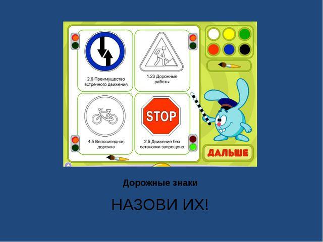 Дорожные знаки НАЗОВИ ИХ!