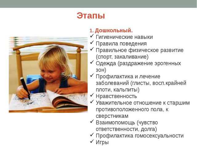 1. Дошкольный. Гигиенические навыки Правила поведения Правильное физическое р...