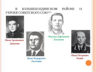 В БОЛЬШЕБОЛДИНСКОМ РАЙОНЕ 11 ГЕРОЕВ СОВЕТСКОГО СОЮЗА. Иван Архипович Докукин
