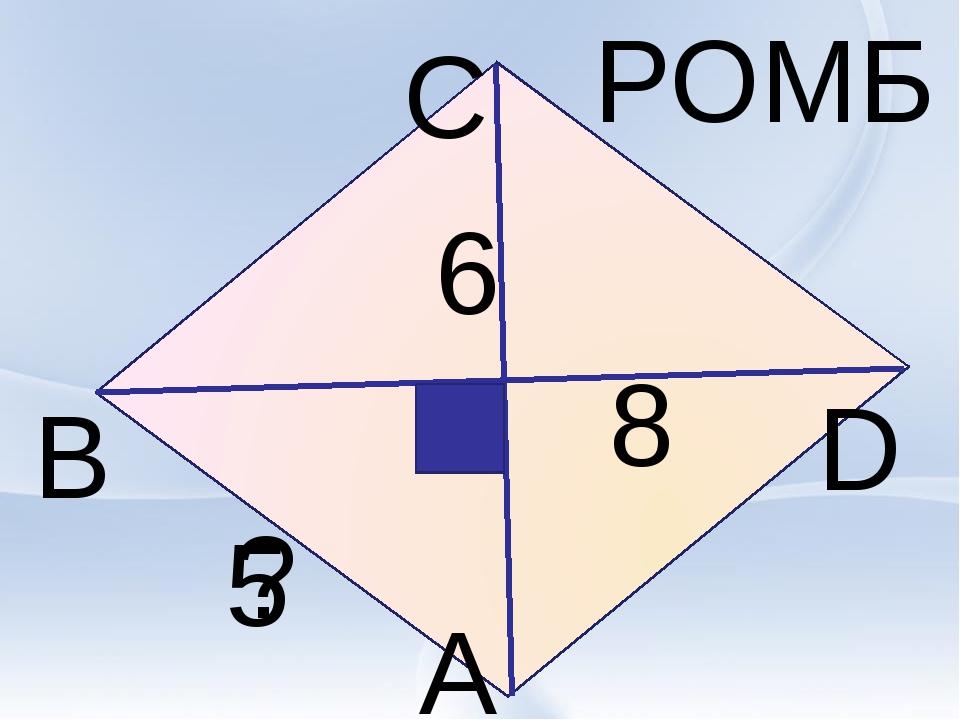 В А С D РОМБ 6 8 ? 5
