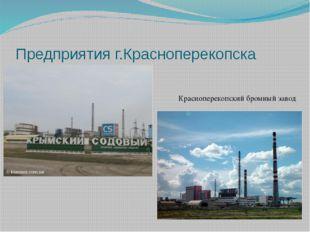 Предприятия г.Красноперекопска Красноперекопский бромный завод