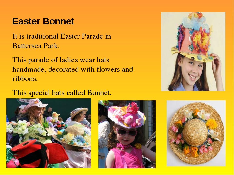Easter Bonnet It is traditional Easter Parade in Battersea Park. This parade...