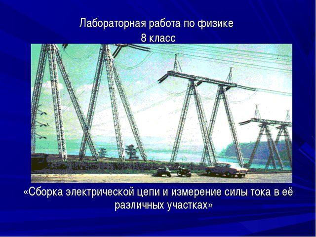 Лабораторная работа по физике 8 класс «Сборка электрической цепи и измерение...