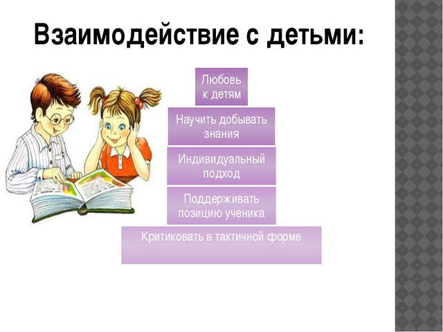 Взаимодействие с детьми: