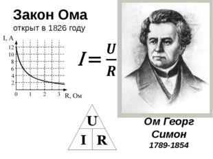 Ом Георг Симон 1789-1854 Закон Ома открыт в 1826 году