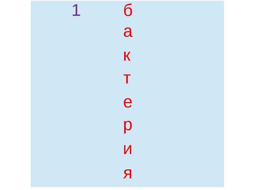 1 б   а к т   е   р   и   я