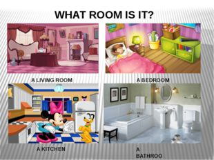 WHAT ROOM IS IT? A LIVING ROOM A BEDROOM A BATHROOM A KITCHEN A KITCHEN