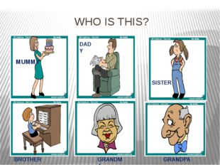 WHO IS THIS? MUMMY DADY SISTER BROTHER GRANDMA GRANDPA GRANDPA