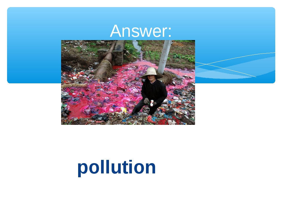 pollution Answer: