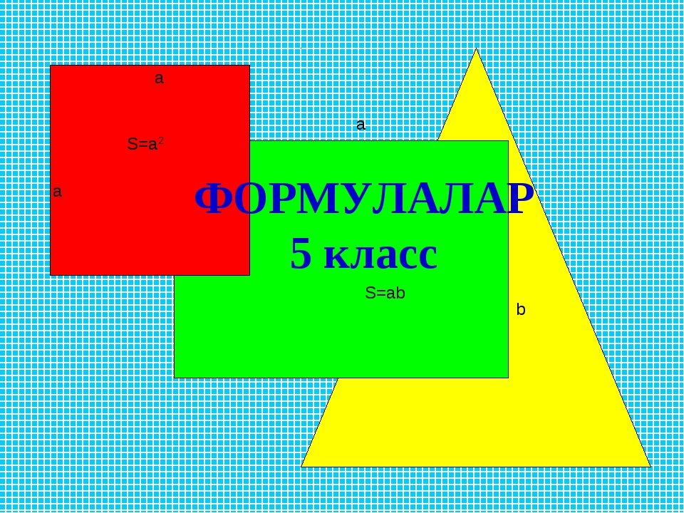 ФОРМУЛАЛАР 5 класс а а S=a2 a b S=ab