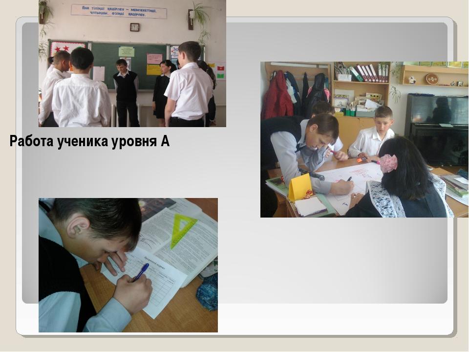 Работа ученика уровня А