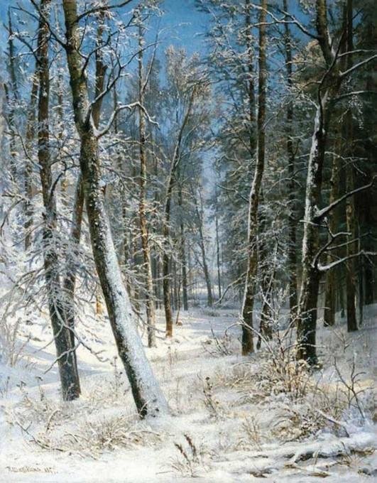Шишкин Иван Иванович. Зимой в лесу