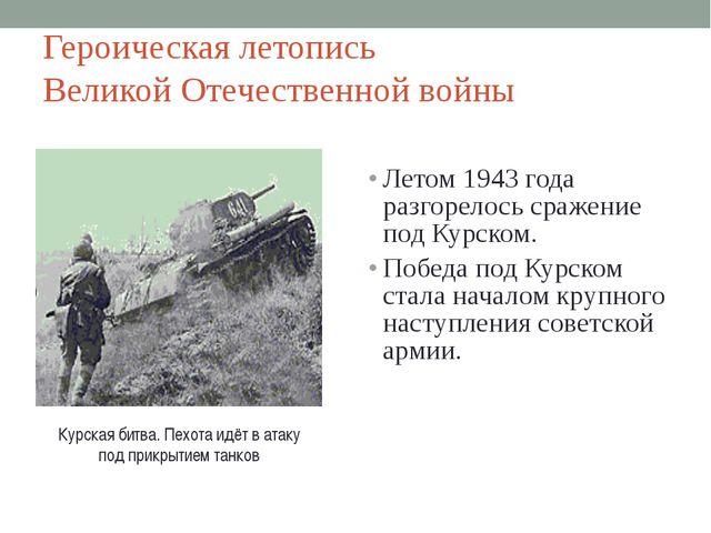 Героическая летопись Великой Отечественной войны Летом 1943 года разгорелось...