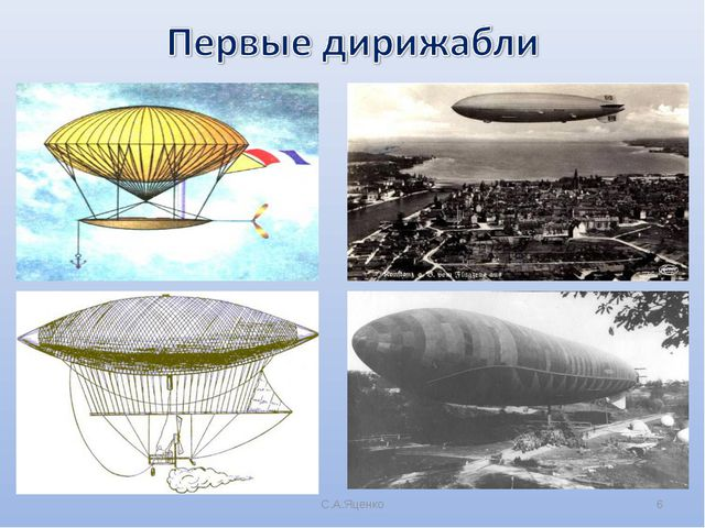 history and three classes of airship