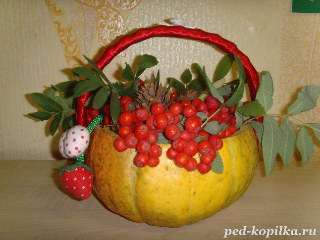 Осенние поделки своими руками из тыквы для школы фото