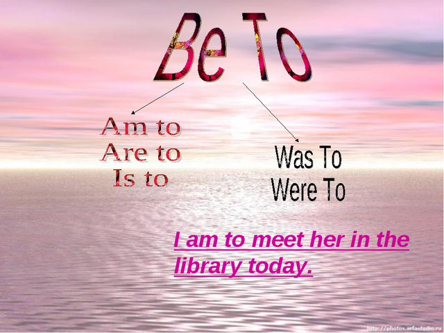 I am to meet her in the library today.