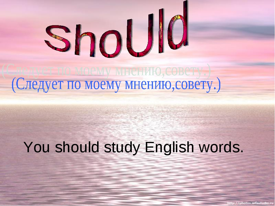 You should study English words.