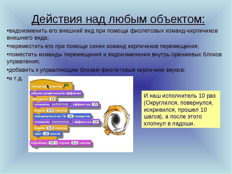 Действия над любым объектом: видоизменить его внешний вид при помощи фиолетов...