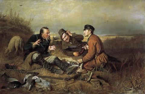 Охотники на привале, В. Перов, 1871