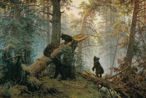Утро в сосновом лесу, И.Шишкин и К.Савицкий