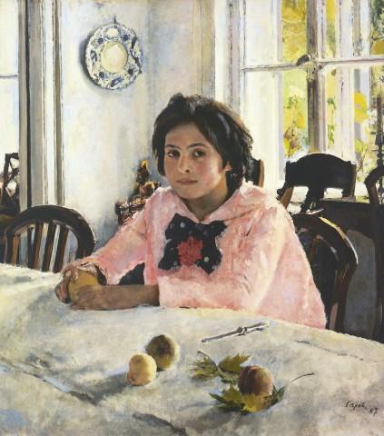 Девочка с персиками (портрет В. Мамонтовой), В. Серов