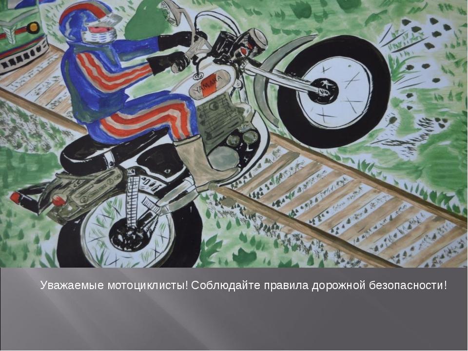 Уважаемые мотоциклисты! Соблюдайте правила дорожной безопасности!