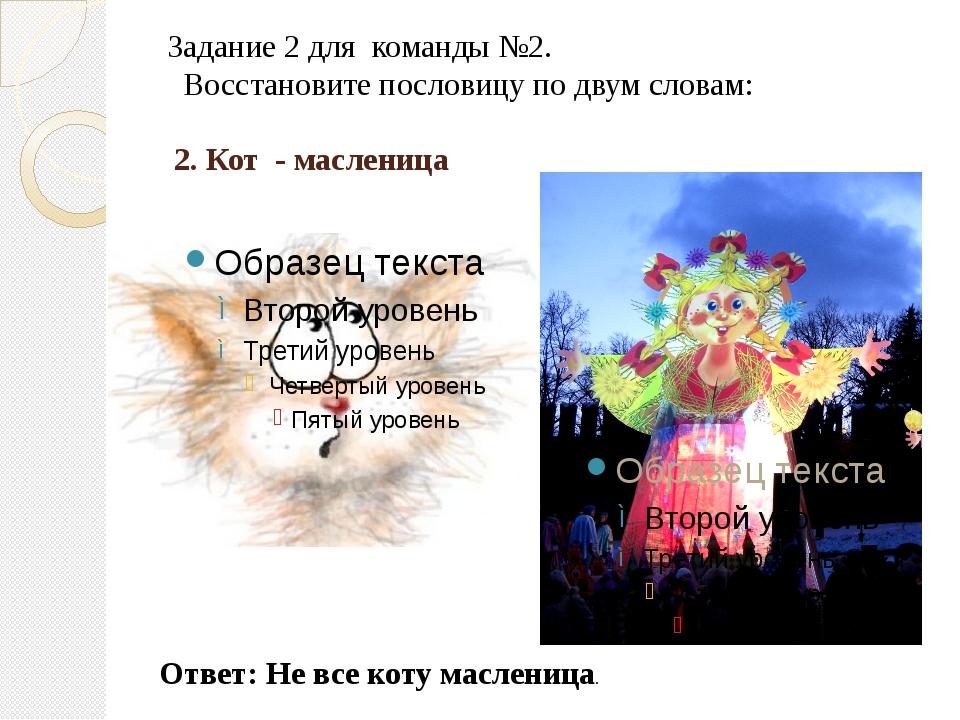 2. Кот  - масленица