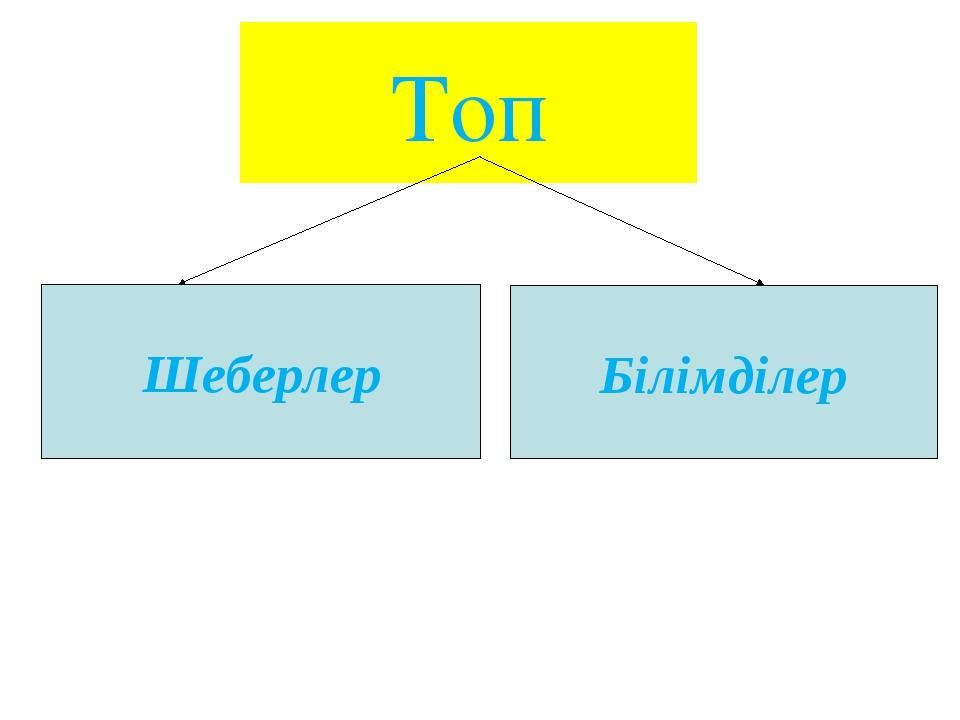 Топ Шеберлер Білімділер