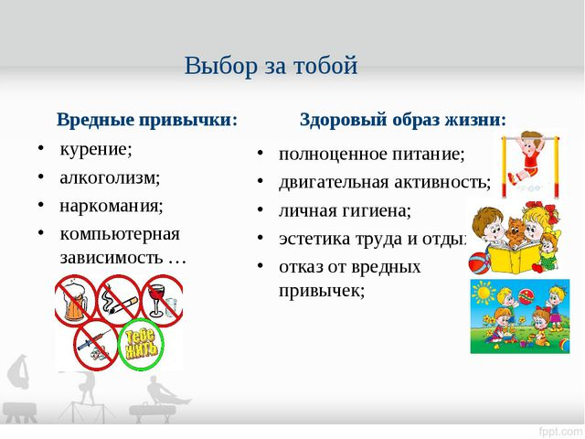 Вредные привычки: курение; алкоголизм; наркомания; компьютерная зависимость …...