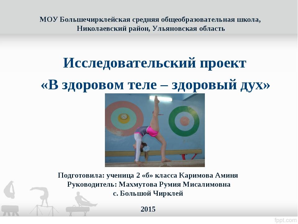 МОУ Большечирклейская средняя общеобразовательная школа, Николаевский район,...