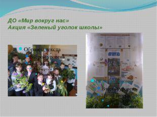 ДО «Мир вокруг нас» Акция «Зеленый уголок школы»