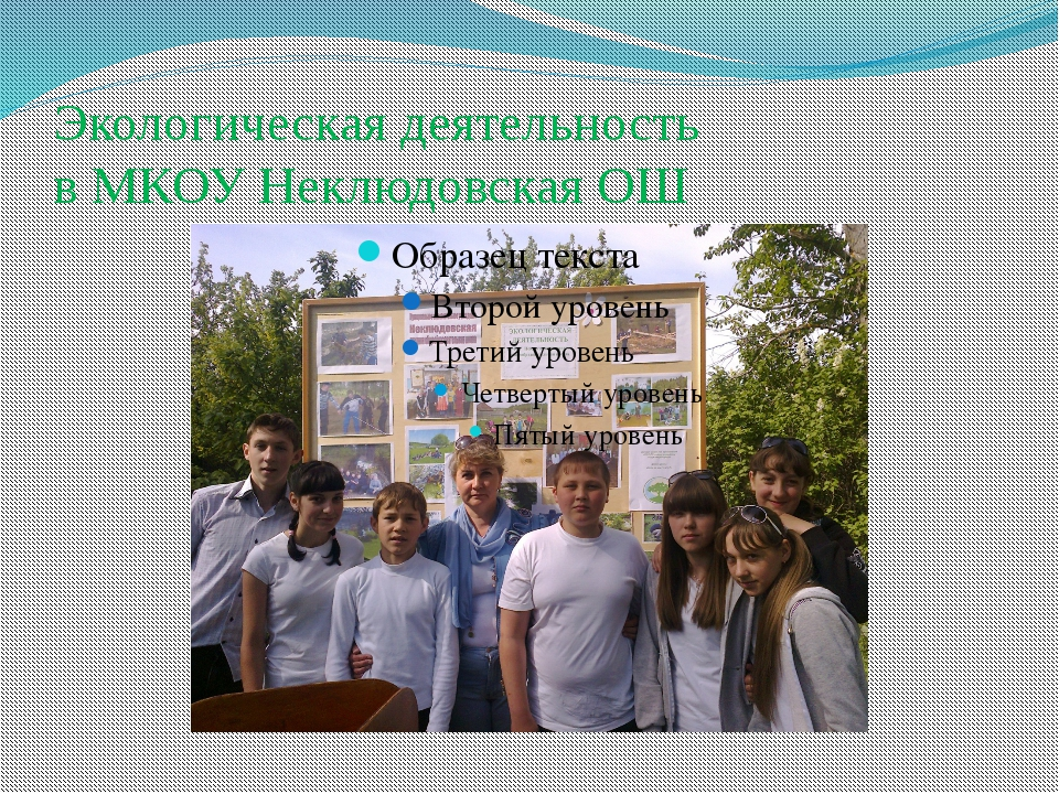 Экологическая деятельность в МКОУ Неклюдовская ОШ