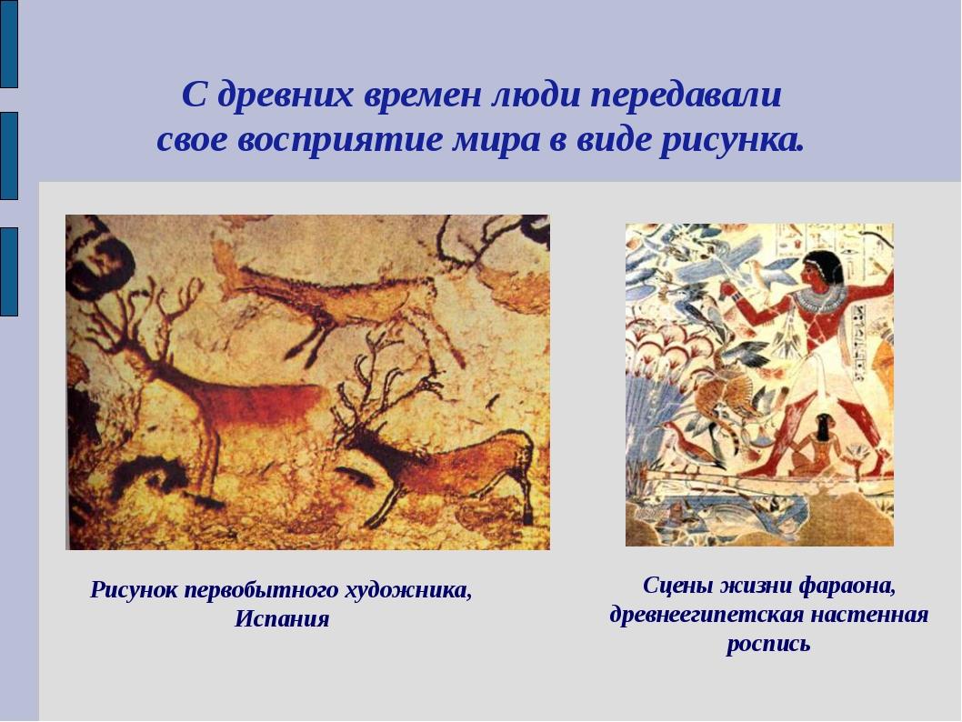 С древних времен люди передавали свое восприятие мира в виде рисунка.