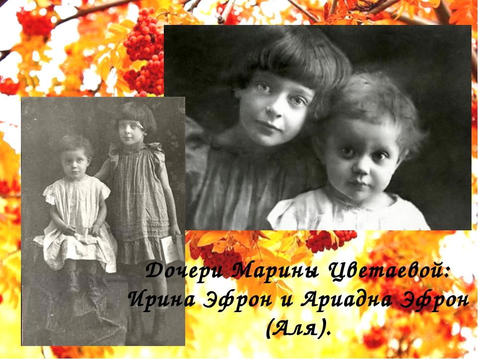Дочери Марины Цветаевой: Ирина Эфрон и Ариадна Эфрон (Аля).
